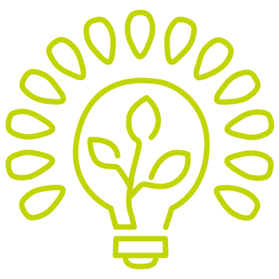 green bulb illustration