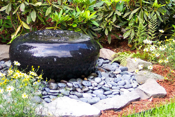 drainage for outdoor water feature