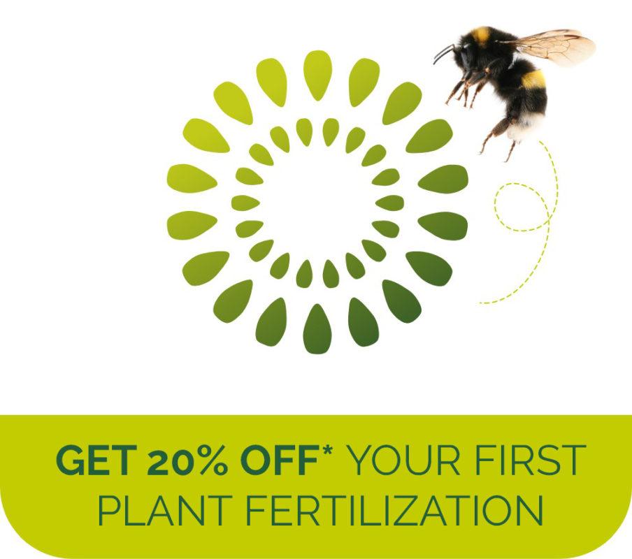 Get 20% off your first plant fertilization