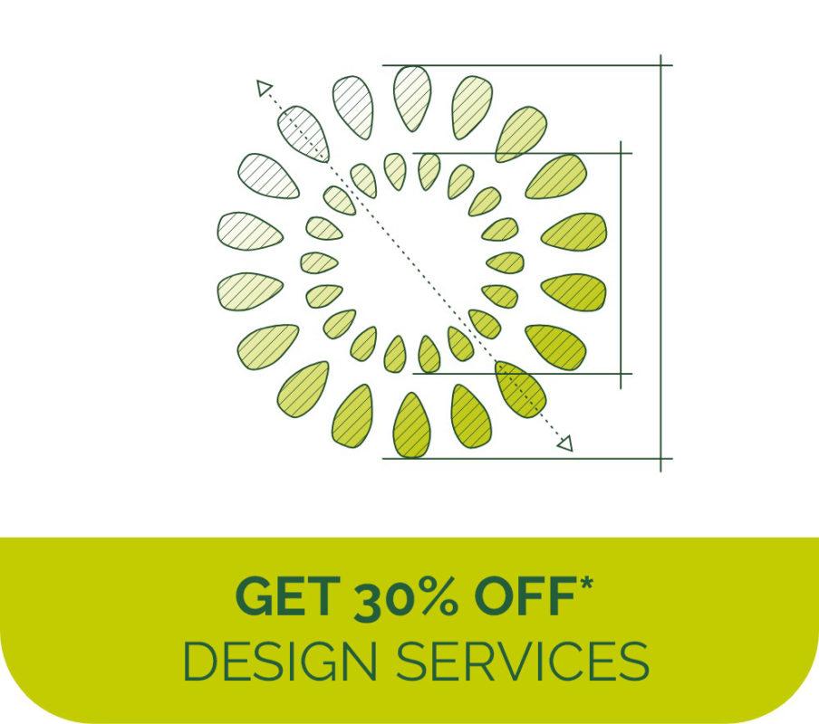Get 30% off landscape design services
